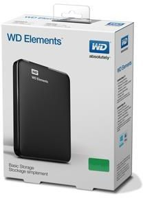 WD Elements Portable 1TB External Hard Drive - Black