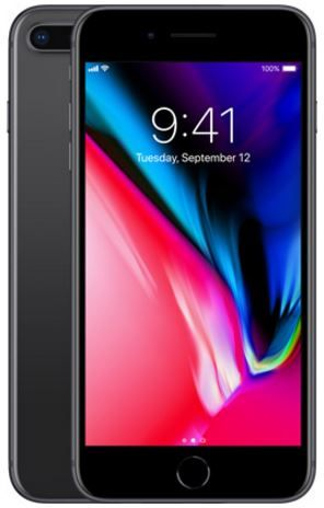 Apple Iphone 8 Plus With Facetime - 64 GB, 4G LTE, Space Grey, 3 GB Ram, Single Sim