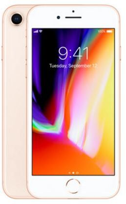 Apple Iphone 8 With Facetime - 256 GB, 4G LTE, Gold, 2 GB Ram, Single Sim