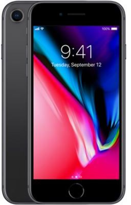 Apple Iphone 8 With Facetime - 256 GB, 4G LTE, Space Grey, 2 GB Ram, Single Sim