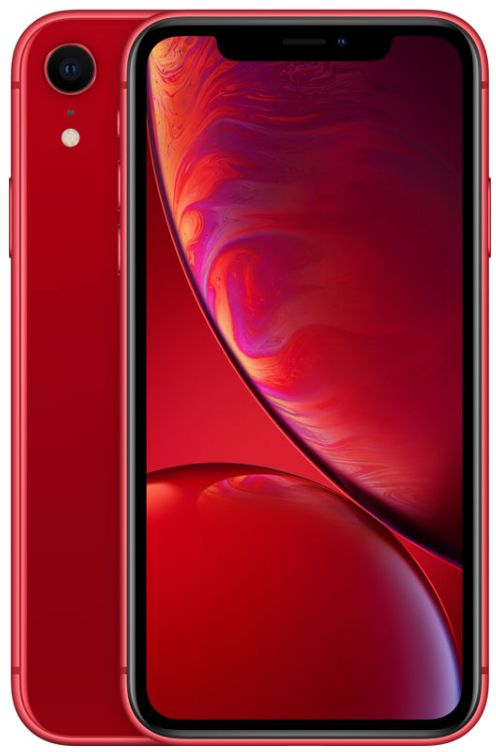 Apple Iphone XR With Face Time - 128 GB, 4G LTE, Red, 3 GB Ram, Single Sim & E-Sim