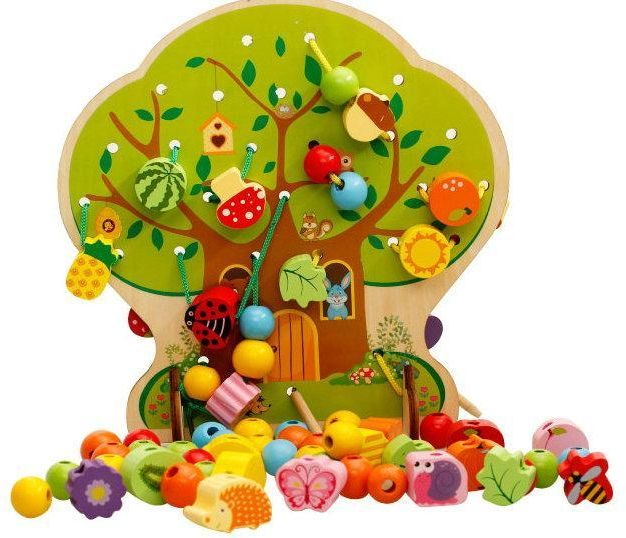 Bead and Fruit Collecting Tree to Develop Intelligence and Concentration, Cognitive and Behavioral Skills and Strengthen Finger Muscles