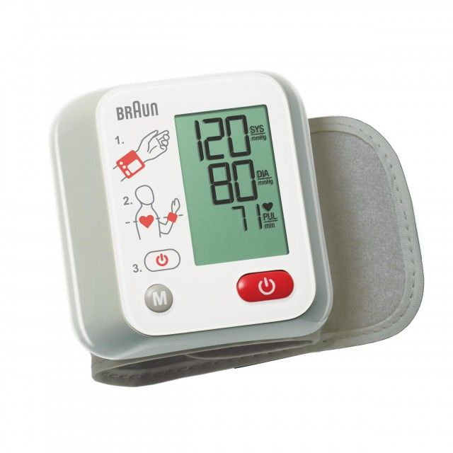 Braun VitalScan 1 BBP2000 Automatic Wrist Blood Pressure Monitor with Positioning Guide on Device