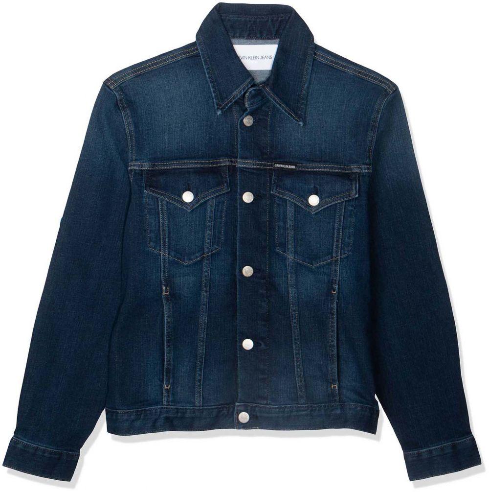 Calvin Klein Jeans Foundation Trucker Jacket for Women , Blue , Size S