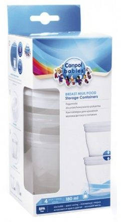 Canpol Babies Breast Milk & Food Storage 4 Pcs_012/204