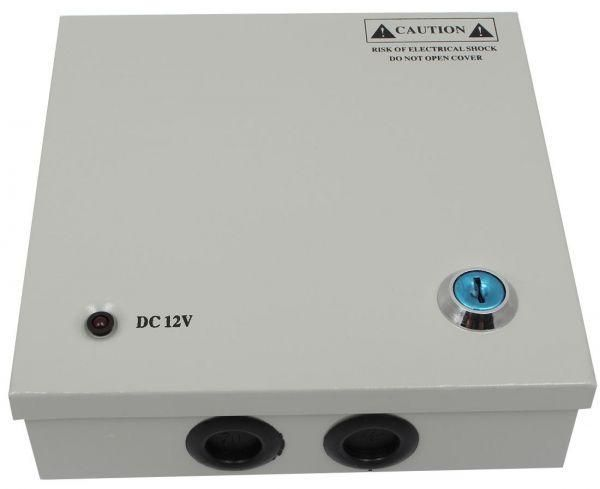 CCTV Power Supply 12v 5a with Rack 4c For Security Cameras Silver