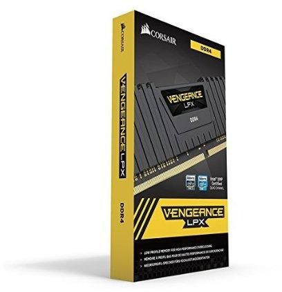 Corsair Vengeance LPX 16GB (2x8GB) DDR4 DRAM 2666MHz (PC4-21300) C16 Memory Kit - Black (CMK16GX4M2A2666C16)