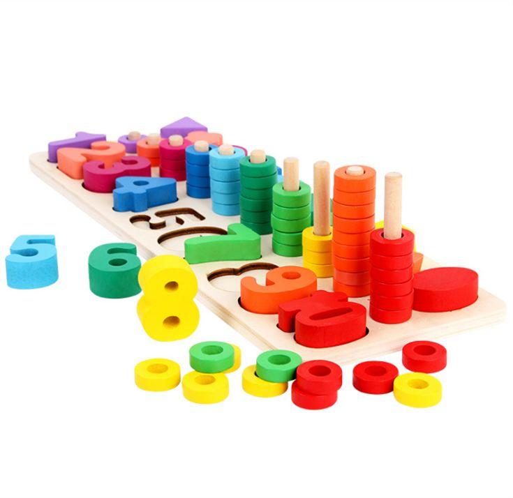 Digital shape cognitive logarithmic board kindergarten mathematics arithmetic teaching aid early education educational toys