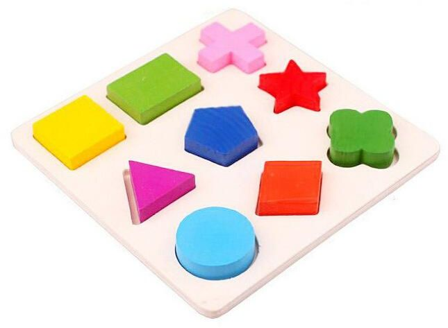 Early education Wooden three-dimensional Puzzle toy geometric shape design board children's educational toys
