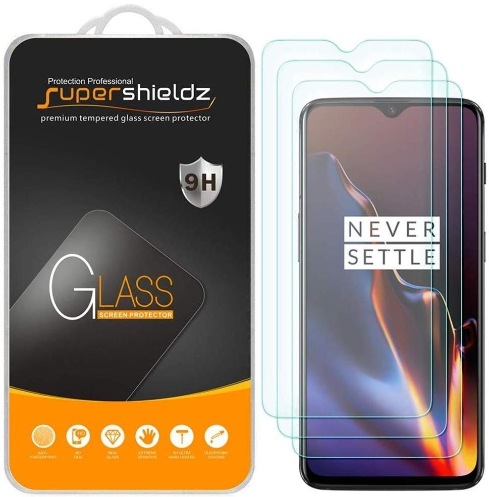 for OnePlus 6T / 7 Tempered Glass Screen PROTECTOR (3 PACKS) Anti Scratch, Bubble FREE, SUPERSHIELDZ.