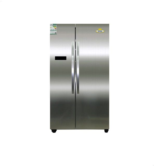 General Supreme Refrigerator Side By Side Mixed Materials , 560Litre , Steel - GS 999S