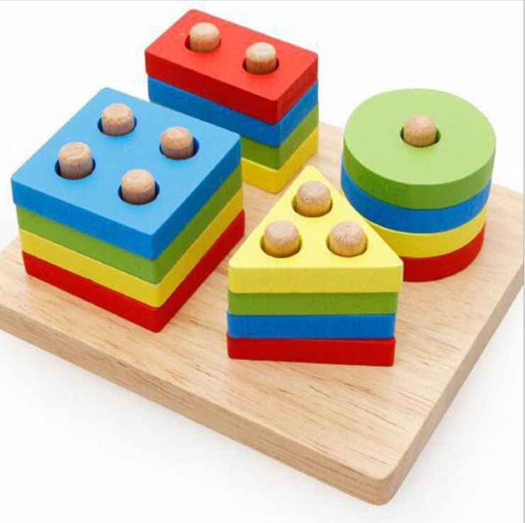 Geometric Intelligence Board for Children,Wooden Early Education Toy Jigsaw Puzzle