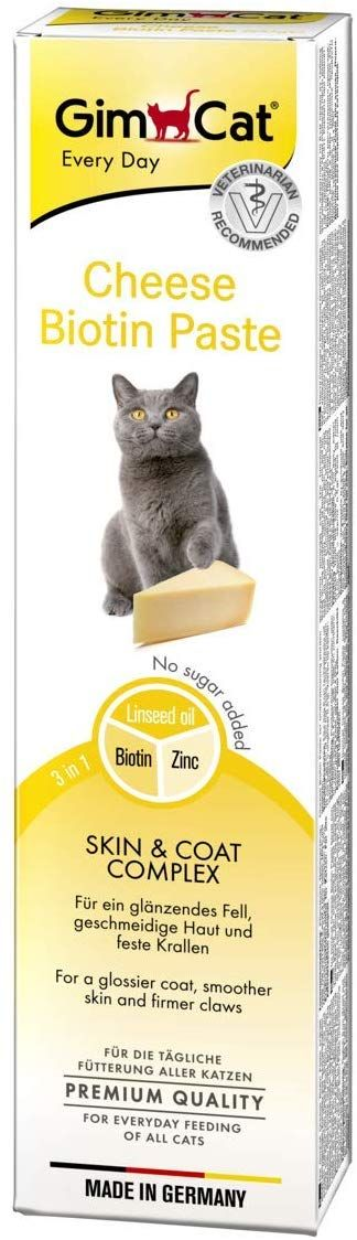 GimCat Cheese Biotin Paste for Cat, 200 gm