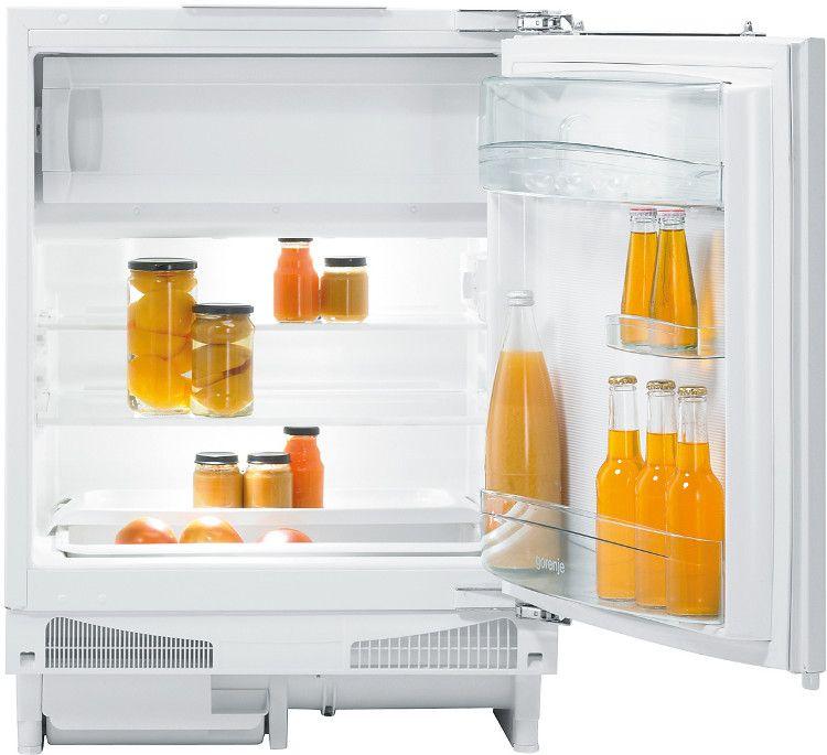 Gorenje Mini Bar Refrigerator, 130L, 80W, White, RBIU6091AW
