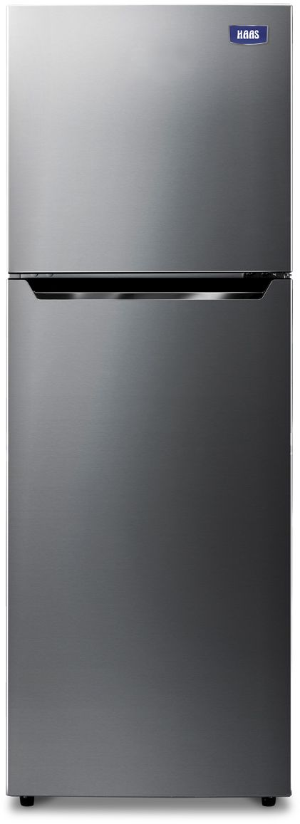 HAAS Freezer on Top Refrigerator, 11.2 Cu.ft, Mixed Materials, Silver - HRK115S