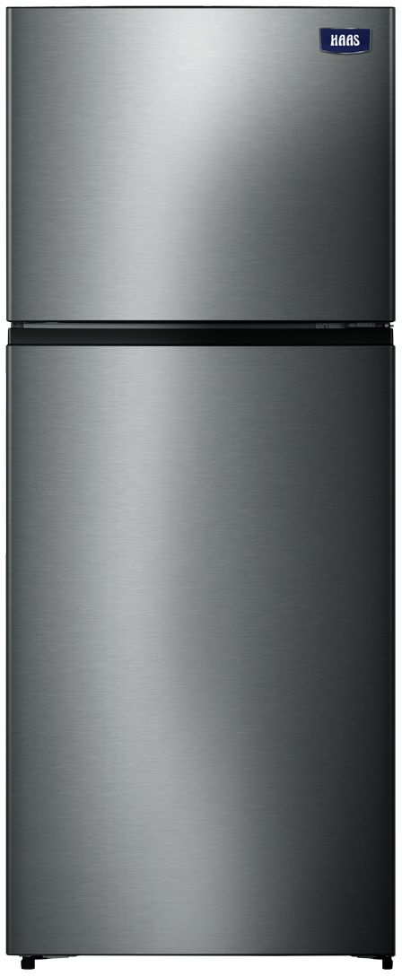 HAAS Freezer on Top Refrigerator, 375 Liters, Mixed Materials, Silver - HRK117S