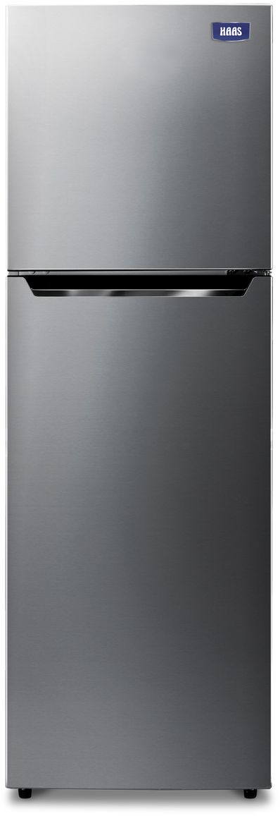 HAAS Freezer on Top Refrigerator, 8.8 Cu.ft, Mixed Materials, Silver - HRK113S