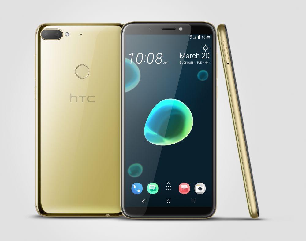 HTC Desire 12+ Dual SIM - 32GB, 3GB RAM, 4G LTE, Gold