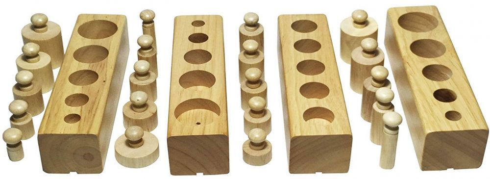 Montessori Wooden Cylinder Socket Family Pack Early Learning Education Toy