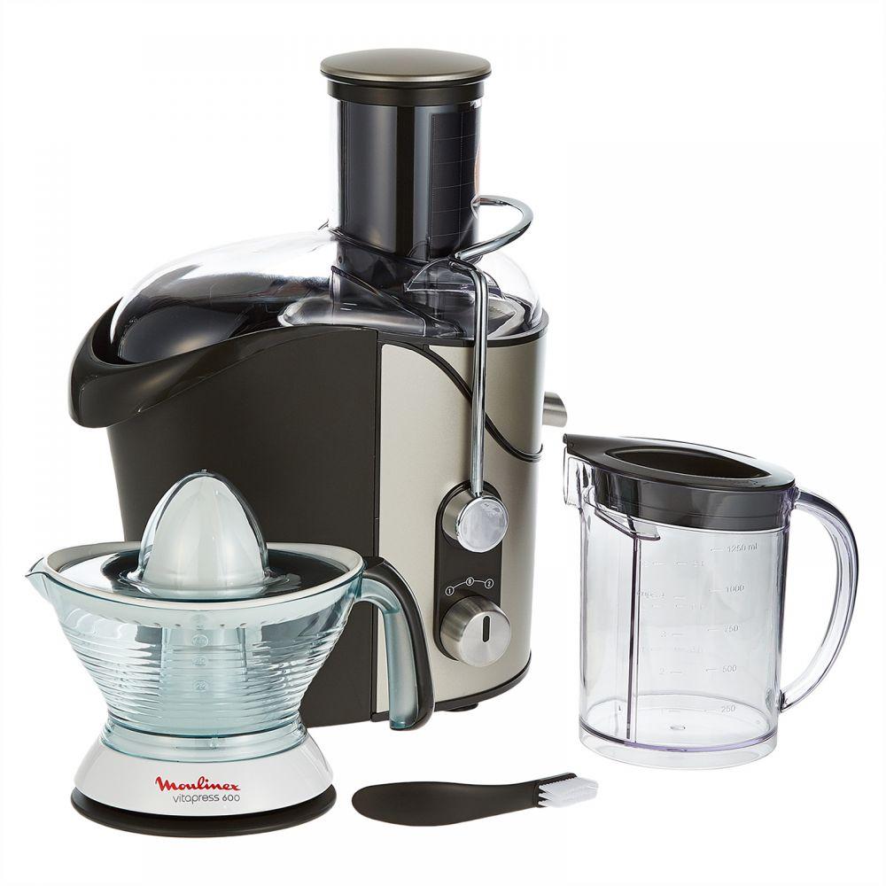 Moulinex Juice Extractor Premium, Silver (ju655h27) Moulinex Citrus Press, White/black - 25w, 0.6l (pc300b27)