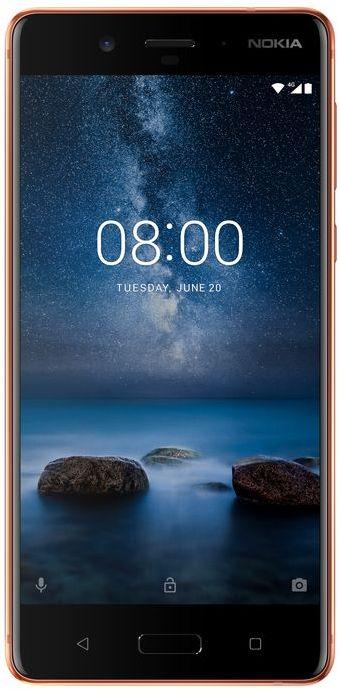 Nokia 8 Dual SIM - 64GB, 4GB RAM, 4G LTE, Polished Copper, 5.3 Inch
