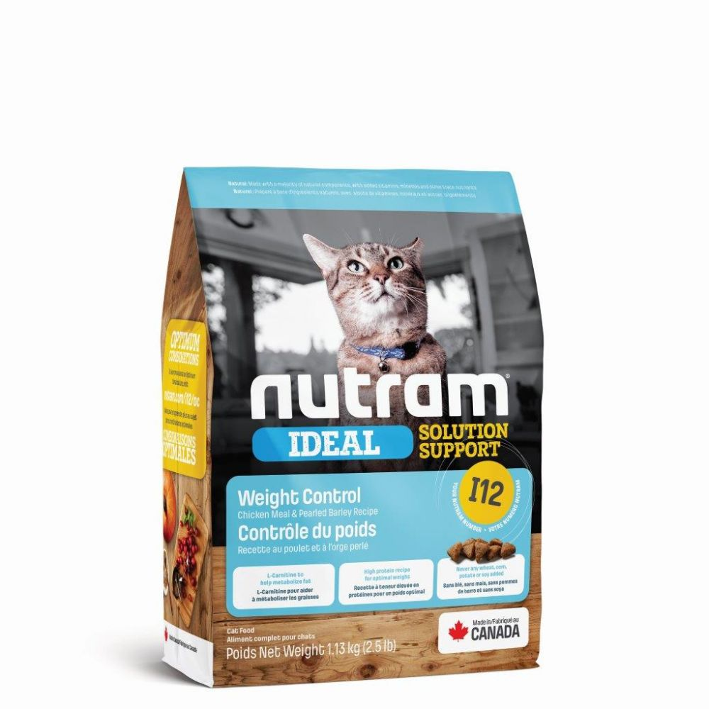 Nutram I12 Ideal Solution Support Weight Control Adult Cat Food, 1.13kg