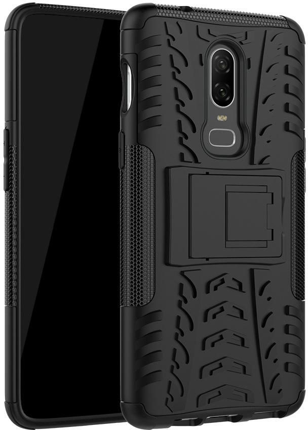 OnePlus 6T Case Sniper Hybrid Series Shockproof Shock Absorption 360 Degree Rotating Kickstand Case for OnePlus 6T