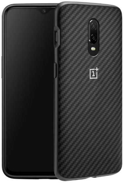 Oneplus 6T OFFICIAL BUMPER All Around Protection Back Protective Case - Karbon