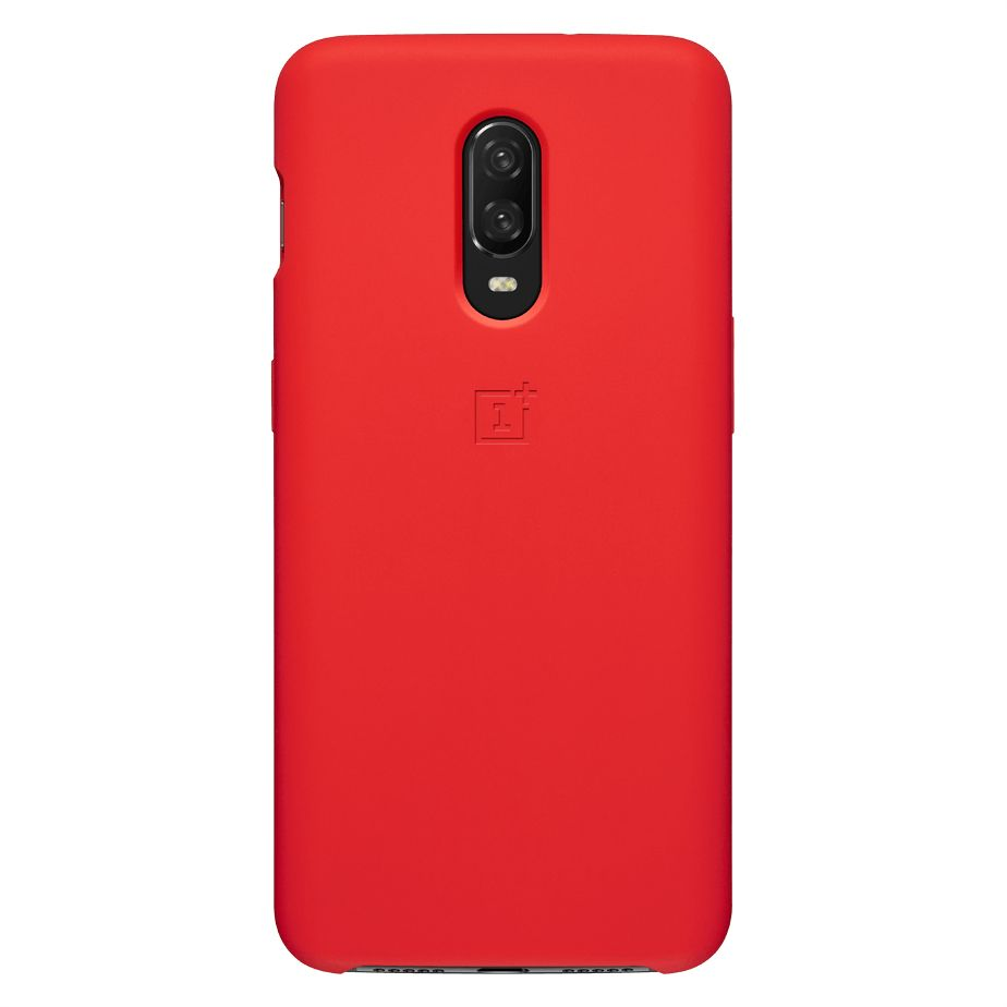 OnePlus 6T Silicone Protective Case - Red