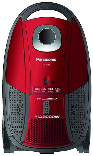 Panasonic Canister Vacuum Cleaner Red - MC-CG713