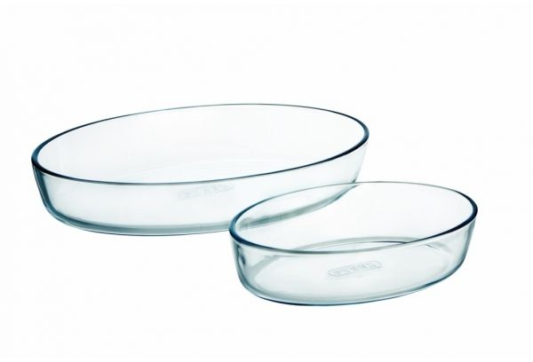 Pyrex 4936253–Set of 2Sources Oval, 25and 39cm