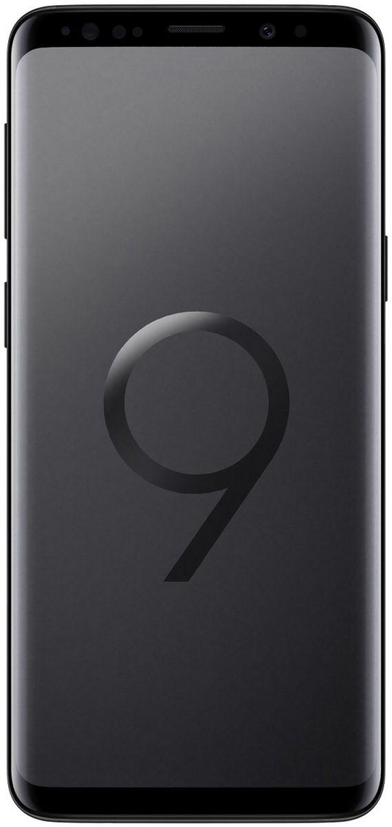 Samsung Galaxy S9 Dual Sim - 256 GB, 4 GB Ram, 4G LTE, Midnight Black - Middle East Version, Sm-G960FzkhXSg