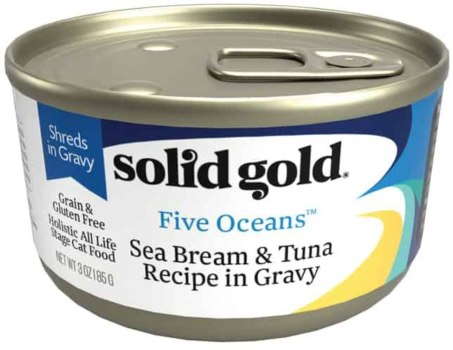 Solid Gold - Five Oceans Sea Bream In Gravy Gf Can 170 G X16 Cans