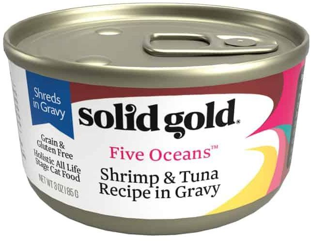 Solid Gold - Five Oceans Shrimp In Gravy Gf Can 170 G X16 Cans
