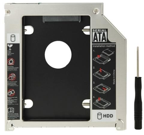 UNIVERSAL SECOND FOR SATA HDD 2.5 INCH CADDY THICKNESS: 9.5MM