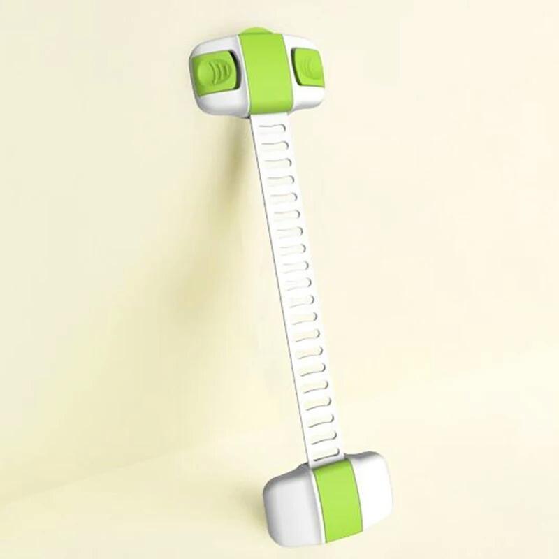 قفل متعدد الإستخدام لحماية الأطفال من فتح الثلاجة أو الفريزر لون اخضر