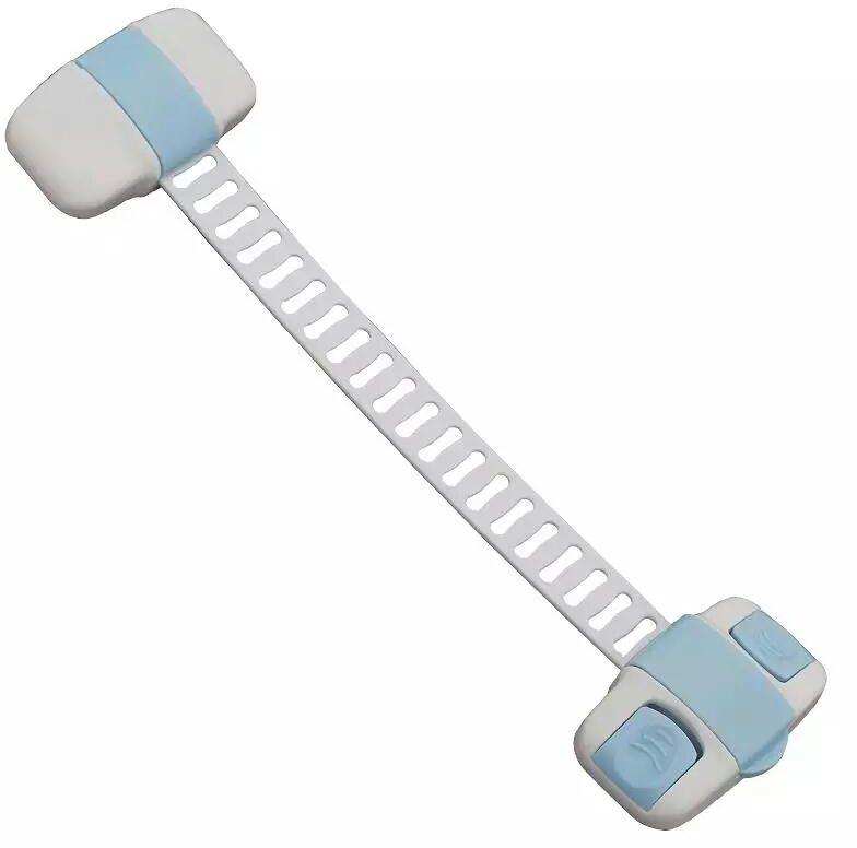 قفل متعدد الإستخدام لحماية الأطفال من فتح الثلاجة أو الفريزر لون ازرق